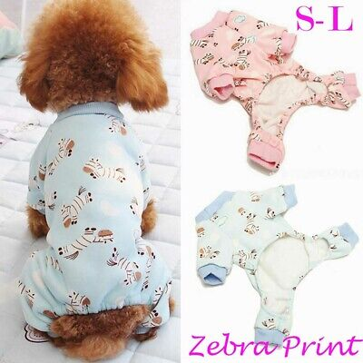Cute Pet Dog Puppy Teddy Winter Warm Cartoon Hoodie Costume Clothes Jumpsuit New