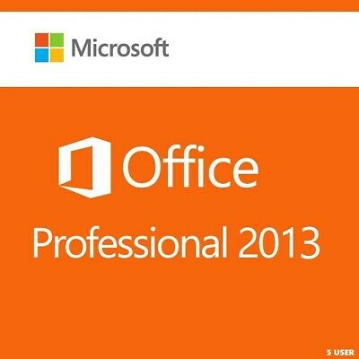 Microsoft Office Professional 2013 - 5 Pc (Retail Sealed)