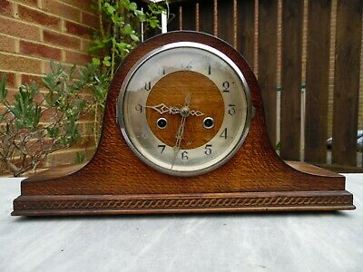 Enfield Oak Cased Striking Mantle Clock - For repair / restoration