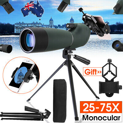 Telescope with Adjustable Tripod Phone Adapter for 25-75 Zoom Watching Monocular