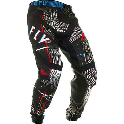 Fly Racing Cross Hose Lite Glitch Schwarz/Rot/Blau