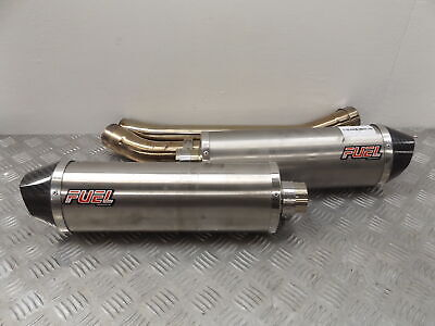 2014 KAWASAKI ZZR 1400 FUEL Slip on Oval Exhaust Silencers