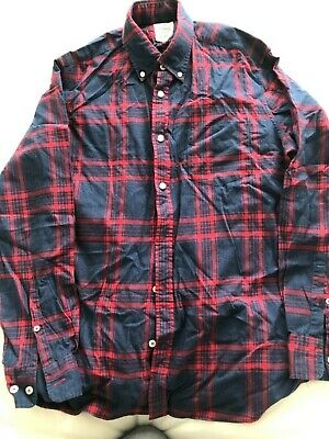 T m Lewis blue and red checked shirt size medium