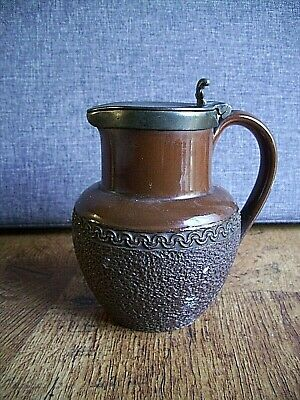 Antique Late 19th Century Victorian Langley Ware James Dixon Pewter Lidded Jug