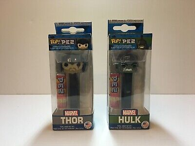 Incredible Hulk Pez Funko Pop Marvel Thor Ragnorak Set Collectible