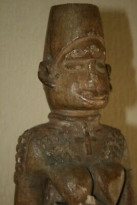 An Early 20 Th C. Ntadi Maternity Stone Grave Figure R.d.congo