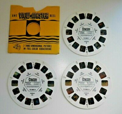 Stingray 1993 Viewmaster Reels Set D282 Rare 3 Reels Gerry Anderson   E374