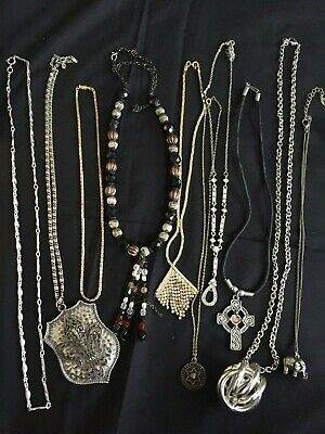 Job Lot Necklaces Jewellery Gold Silver Tone Assorted Styles And AGE