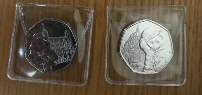 2019 Paddington 50p 2 Coin Set: Tower & St Paul's, Uncirculated From Sealed Bags