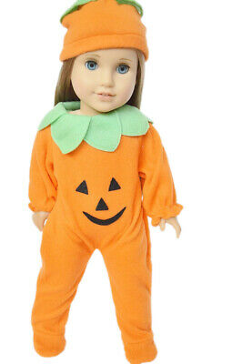Pumpkin Costume for American Girl Dolls 18 Inch Doll Clothes