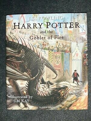 SIGNED by JIM KAY Harry Potter and the Goblet of Fire: Illustrated 1st Edition
