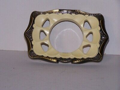 Vintage Amerock Carriage House Wall Mounted Toothbrush Holder Antique Brass