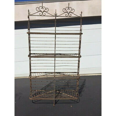 Antique French Iron Bakers Rack