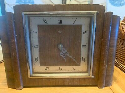 Large Smiths Electric Mantle Clock With Westminster Chime
