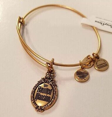 Disney Alex And Ani The Haunted Mansion Bracelet Gold