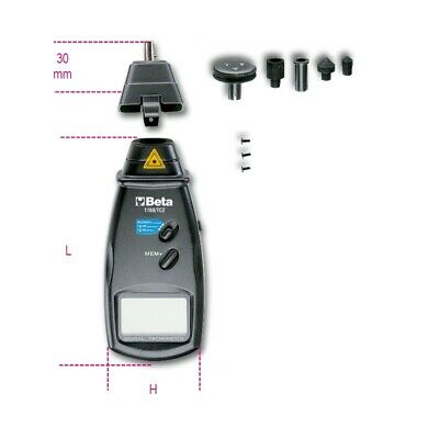 Beta Tools 1760/TC2 Combination Contact/Non-Contact Digital Tachometer 017600161