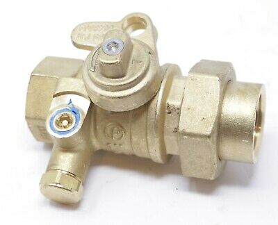 """1"""" Brass Lockwing Utility Gas Ball Valve - Curb Stop Valve Compression Jomar"""