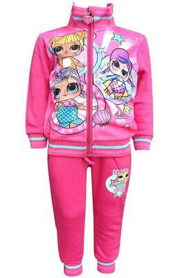 Girls Lol Surprise Doll Tracksuit Lol fleece Lined Zipped jogging Set Age 4-10