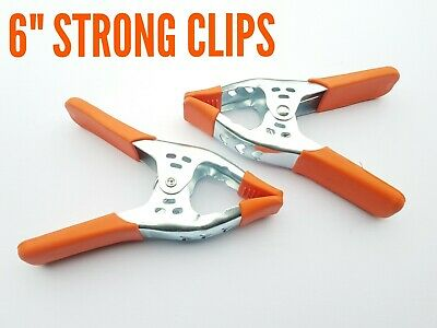 """MARKET STALL 6"""" STRONG CLIPS 50 x PIECES ( HEAVY DUTY SPRING CLAMPS )"""