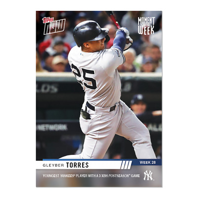 2019 Topps NOW MOW-28 Gleyber Torres New York Yankees ~ Week 28