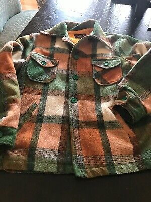 Vintage Campus Plaid Wool Coat Girls Sz 16