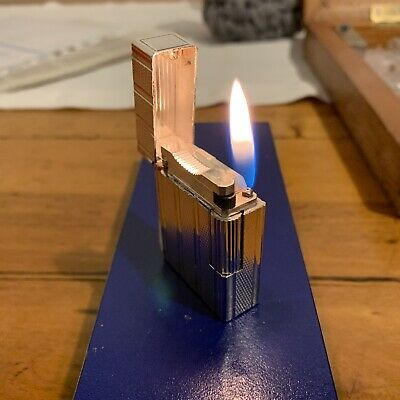 Accendino Dupont Argento Funzionante. Silver Dupont Lighter.