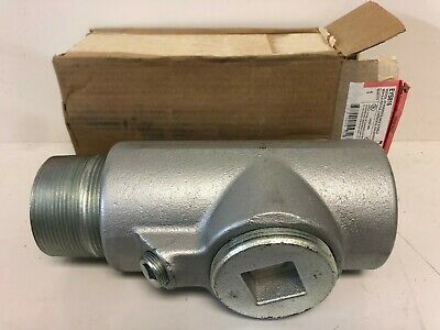 """New With Box Cooper Crouse-Hinds 3"""" Eys Condulet Fitting Eys816"""