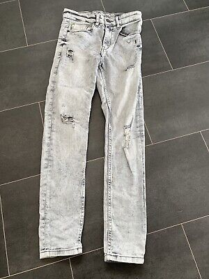 Boys NEXT Grey Ripped Skinny Jeans, Size 11 Years, Good Used Condition