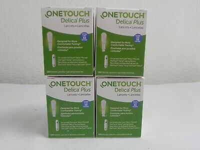 Lot Of 3 One Touch Delica Plus 100 Lancets Extra Fine 33 Gauge Expires 2023/24