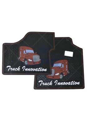 Kenworth T680 T880 Peterbilt 579 567 Black & Red Floor Mats