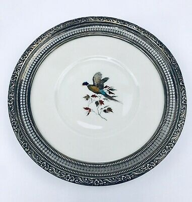 Vintage Frank M Whiting Sterling Silver Pheasant Plate Delano Studios