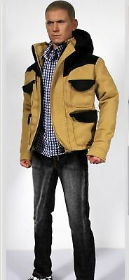 1/6 Scale Male Casual Suit Clothing Jacket&Jeans Set Fit 12'' Action Figure Body