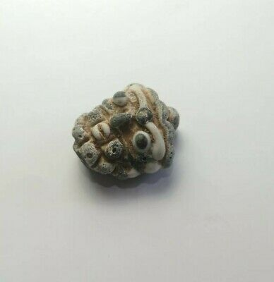 Sassanian Ancient Glass Face Bead Islamic Near Western Alchelmy Roman Amulet