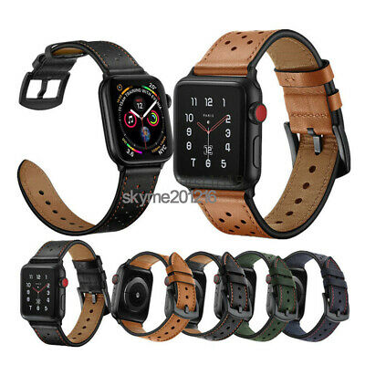 40/44mm Genuine Leather for Apple Watch Band Strap iWatch Series 5 4 3 2 38/42mm