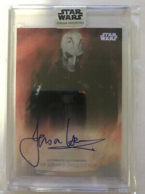 2018 Topps Star Wars Stellar Jason Isaacs The Grand Inquisitor AUTO 07/40 SILVER