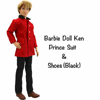 New Barbie Doll Ken Doll clothes prince outfit outfit 3 piece set shoes princess