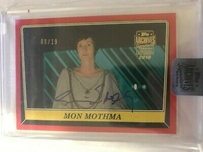 2019 Star Wars Archives Autograph GENEVIEVE O'REILLY as MON MOTHMA Auto 09/19