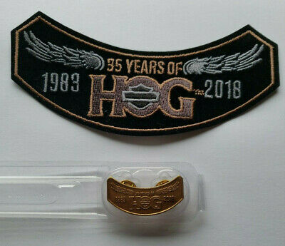 2018 HOG Harley Davidson Patch and Pin Brand New