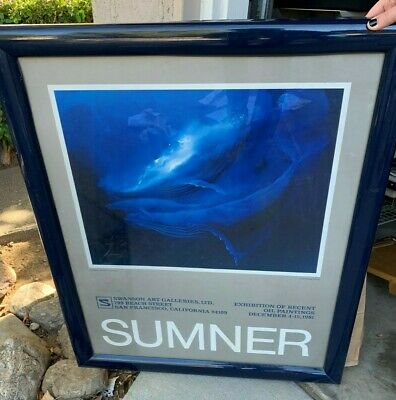 """1981 Sumner """"the Family""""  Poster 33x27 Swanson art galleries San Francisco, CA"""