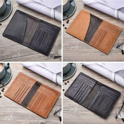 Leather Travel Passport ID Card Cover Holder Case Protector Organizer Wallet