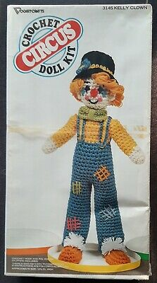 CHROCHET CIRCUS DOLL KIT By Vogart Crafts KELLY CLOWN - VINTAGE - NEW/SEALED