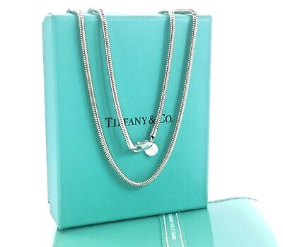 Tiffany & Co Sterling Silver Snake Chain Necklace 25.25in /17 gr w Pouch 191018B