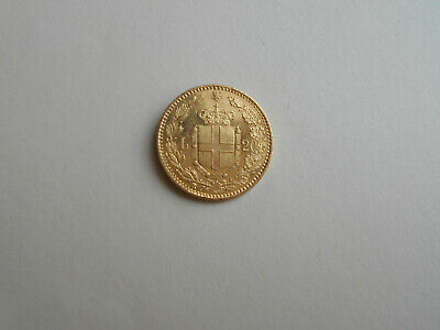 1882 Italy 20 Lira Gold Coin Umberto I In Attractive High Grade Mintmark A .1867