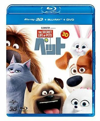 THE SECRET LIFE OF PETS 3D + BLU-RAY + DVD SET-JAPAN 2Blu-ray+CD L18