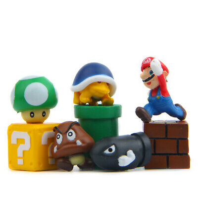 Super Mario Luigi Goomba Koopa Troopa 8 PCS Action Figure Doll Cake Topper Toys