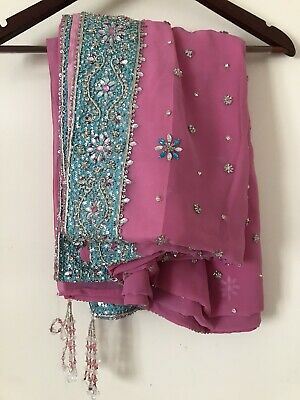 Brand new pink saree / sari