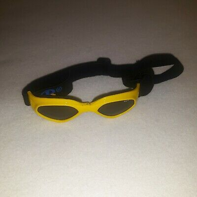 BP Dog Eye Protection Yellow Goggles Sunglasses w/ Adjustable Head Strap