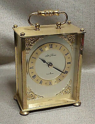 Seth Thomas Heavy Brass Carriage clock mantel clock