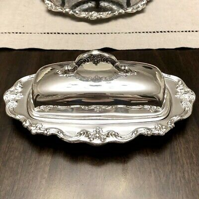 Beautiful Gorham Chantilly Silverplate Butter Dish YC1307 Great Condition!