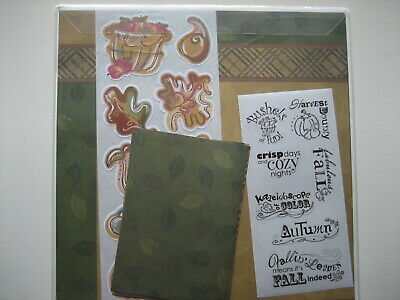 AUTUMN Earthy Paper & Sticker Additions Pack by Creative Memories